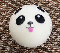 Wholesale Squishy Keychains - Kawaii Squishy Rare Jumbo Squishies Panda Bread for Keys Phone Strap Mobile Phone Charm Toys Pendant Keychains Cell Phone Accessories Toy