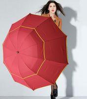 große regenschirme großhandel-Hot 130 cm Big Top Qualität Regenschirm Männer Regen Frau Winddicht Große Paraguas Männlichen Frauen Sonne 3 Floding Großen Regenschirm Outdoor Parapluie