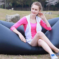 Wholesale Fast Inflatable Camping Sofa banana Sleeping Lazy Chair Bag Nylon Hangout Air Beach Bed chair Couch Lay bag Inflatable sofa cm