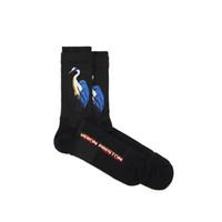 kaykay çorapları toptan satış-17FW Heron Preston Vinçler Nakış Basketbol Çorap Harajuku Pamuk Kaykay Hip Hop Yüksek Sokak Spor Moda Midtop Çorap HFLSWZ001