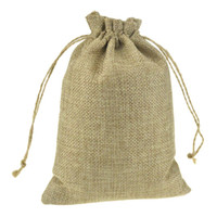 Wholesale Custom Promotional Packaging - 13x18cm Custom Printed Promotional Faux Jute Drawstring Pouches Drawstring Gift jewelry packaging bags Stylish Natural Burlap Reusable