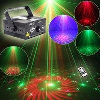 lentille de lumière laser dj achat en gros de-Projecteur laser lumière de la scène sonne Sense Suny RG 3 lentille 40 motifs disco rouge et vert DJ Party Laser Lights avec télécommande