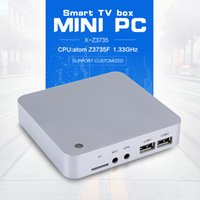 All'ingrosso-Wintel X-Z3735F Win8 Mini PC Atom Z3735F CPU 2GB / 32GB Con 5V3A Potenza Adattarsi grafica scheda TV Box Mini PC Mini PC dual OS