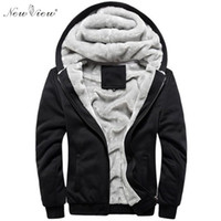 Wholesale yellow color wool winter coat - Autumn Winter Fashion Brand Men Hoodies Sweatshirts Warm Thick Fleece Sportswear Jacket Hoodie Coat Plus Size M- 5XL