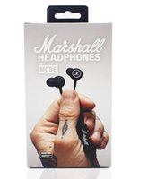 Wholesale Nice Mobile Phones - Nice sound !! Marshall MODE headphones in ear headset black earphones with mic HiFi ear buds headphones universal for mobile phones DHL