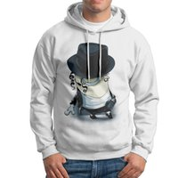 Wholesale Cheap Character Hoodies - Cheap Male Cotton Hoodies Round Neck Minion Jackson Mens Black Grey White Cotton Liner Sweatshirts Extra large Size Funny Sweatshirts