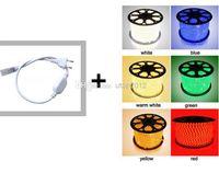 Wholesale Led Strip Rgb 3528 Ip67 - Free shipping IP67 High Voltage colorful 60LED SMD 3528 LED Strip 220V 300LED Waterproof RGB LED Light Strip + Plug