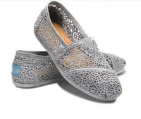 Wholesale Happy Toe - NEW Foreign hot money lace canvas shoes a hollow Thomas happy Marie fashion fashionable leisure slip-on