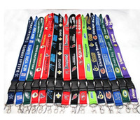 Wholesale Gift Cards For Sale - 100pcs lot Football Teams Lanyard ID Card Badge Holder Detachable Keychain For Xmas Gifts Hot Sales Free Shipping