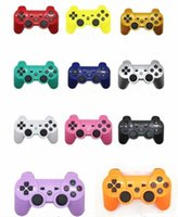 Wholesale Video Game Packaging - PS3 Wireless Bluetooth Game Controller for PlayStation 3 PS3 Game Multicolor Controller Joystick For Android Video Games Without Packaging