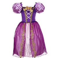 Wholesale Baby White Plaid Dress - Summer Baby Girls Cinderella Dresses Children Snow White Princess Dresses Rapunzel Aurora Kids Party Halloween Costume Clothes