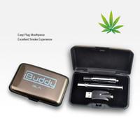 Wholesale Electronic Cigarette Kit Slim - Hot Selling Colorful Slim Electronic Cigarette Vaporizer Pen Atomizer BUD GLA E Cigarette Mod Vape Kit 290mAh 0.5ml
