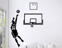 Wholesale blackboard home decor for sale - Group buy Small Middle Large Black D DIY Photo No Basketball Player PVC Decals Adhesive Family Wall Stickers Mural Art Home Decor
