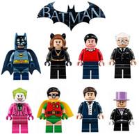 Wholesale Batman Bruce Wayne - DC Detective Comics Batman Alfred Penguin Joker Dick Grayson Bruce Wayne Minifigure Building Blocks Pogo PG8009