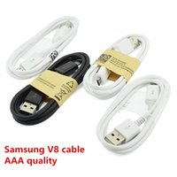 Wholesale Usb Data Cable Dhl - AAA quality Micro V8 USB Cable 1M 3FT Sync Data Cable samsung 7100 Charger Wire For Galaxy S4 S5 Note 3 Note 4 High quality DHL Free Shipp