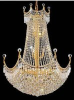 Wholesale Empire Chandeliers - Phube Lighting French Empire Gold Crystal Chandelier Lustre Chrome Chandeliers Modern Chandeliers Light Lighting 88104