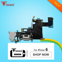 Wholesale Iphone Headphone Jack Flex - for iPhone 6 Dock Connector Charger Charging Port Flex Cable Headphone Audio Jack Replacement Repair Parts 100% Tested High Quality