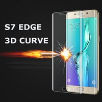 Wholesale Pet Resistant Screen - High Quality PET Soft Film For Samsung Galaxy S7 Edge G9350 3D Round Toughed Full Cover Protective Film Screen Protector Guard