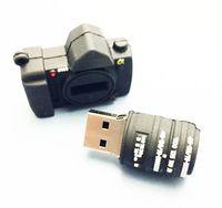 mini msata usb toptan satış-10 Parça 4 GB 8 GB Hiçbir Logo PVC Kamera USB Flash Sürücüler Yepyeni Plastik Mini Karikatür Kamera U Disk USB2.0