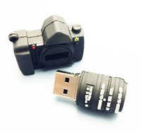 Stock cartoon usb flash disk - 5 Piece No Logo PVC Camera USB Flash Drives Brand New Plastic Mini Cartoon Camera U Disk USB2