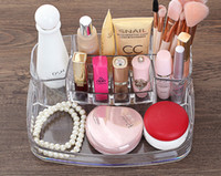 Clear Acrylic Compartment Lipstick Mascara Organizer Stand Holder Beauty Care Holder Cosmétique Makeup Storage Transparent Display Rack