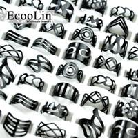 стили татуировки для мужчин оптовых-EcooLin ювелирные изделия старинные черный цинковый сплав цыганский регулируемый палец татуировки кольца Toe кольцо много для женщин мужчины сыпучих ювелирных изделий много смешать стиль BK4010