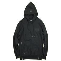 Wholesale Side Zip Hoodie Jacket - Streetwear Hip Hop brand-Clothing kpop Clothes pullover Men jacket 10 deep asap rocky drake fleece grey black side zip Hoodie