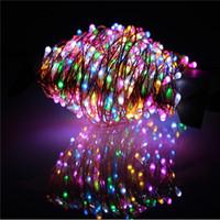 Wholesale Copper Plug Power - 30m 300 LED Outdoor Christmas Fairy Lights Warm White Copper Wire LED String Lights Starry Light+Power Adapter(UK,US,EU,AU Plug)