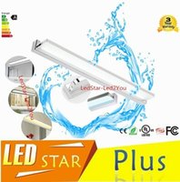 Discount make stainless steel - New Simple Bathroom Mirror Light LED Bathroom Wall Lamp Stainless Steel lamparas de pared Make-up Waterproof Anti-fog Lamps