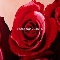 Wholesale Pillow Shams Roses - 3d red Rose Marilyn Monroe oil painting bedding set queen size Cotton quilt cover bedsheet pillow sham 4pcs bed sets