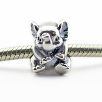 Wholesale Lucky Heart Bracelet 925 - Loose Beads Fits for pandora Snake chain bracelets necklace 100% 925 sterling silver beads Lucky Elephant Charm girl gift 2016 NEW summer