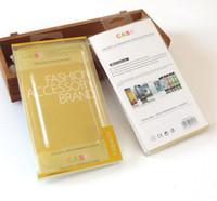 xperia z1 telefonu toptan satış-200 adet Toptan Moda Telefonu Aksesuarları Marka Durumda Sarı PVC Ambalaj Kutusu İç Tepsi Ile iPhone 5 s / 6 s / 7/6 artı Xperia z1 / z2 / z3