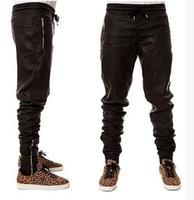 Wholesale Men S Winter Fashion Trends - Hot Trends Fashion Winter Men's Joggers Pants Leather Pants Casual Pencil Necking Pants Zipper designer Elastic Waist Long Pant