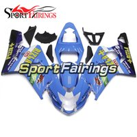Wholesale K4 Fairings - Fairings For Suzuki GSXR600 GSXR750 K4 04 05 Year 2004 2005 Plastics ABS Motorcycles Fairing Kit Bodywork Cowling Body Kit Rizla+ Blue New