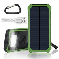 Wholesale Green Mp5 - Solar Charger, 12000mAh Solar Power Bank with Flashlight Dual USB Port Solar Panel Portable Charger (Green)