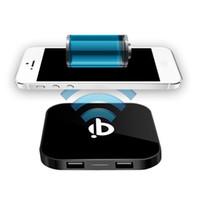 ingrosso qi q8-Dual USB Qi Charger Q8 Caricabatterie wireless caricatore Mat USB per iPhone 8 X Samsung Galaxy S8 S7 S6 bordo Nota5 Nota8