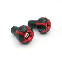 "Wholesale Red Handlebar Ends - RED Universal Motorcycle 7 8"" 22MM Aluminum motocross motorcycle Handlebar Grips Ends Slider"