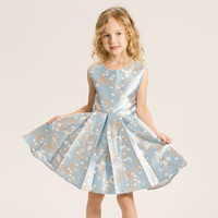 Wholesale Wedding Dress Wholesale Trade - EMS DHL Free Shipping Flower Girl Dress Princess Dress High-end European and American Foreign Trade Manufacturers for Direct