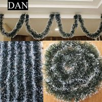 Wholesale Christmas Trees Wholesale For Decor - Hot Sale 1 Pieces 2M PVC Xmas Tree Ornaments Decor Christmas Dark Green Ribbon for Home Party AU