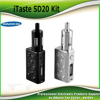 Wholesale Innokin Itaste Starter Kit - Authentic Innokin iTaste SD20 starter Kit 20W Evolv DNA 20 Chipset DNA20 Box Mod 2000mAh with 4.5ML Prism T22 Tank 100% genuine 2201062