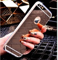 Wholesale Iphone 5s For Sale Cheap - hot sale cheap iPhone 7 Mirror Electroplating Soft TPU Case For iphone 6 6S Plus 5 5s Samsung Note 7 S7 edge Back Cover Phone Cases