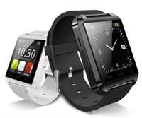 u8 companheiro de relógio inteligente venda por atacado-U8 smart watch telefone bluetooth companheiro smartwatch perfeito para o android para 4s / 5 / 5s para s4 / s5 / note 2 / note4 dhl frete grátis