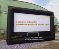Wholesale Project Free Movie - Free shipping inflatable movie screen inflatable film screen outdoor inflatable project screen