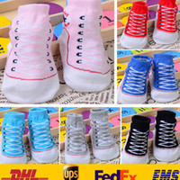 Wholesale Toddler Boys Tube Socks - Cute 0-12M Baby Boys Girls Infant Toddler Soft Sole Crib Shoes Newborn Shoes Summer Spring Autumn Mid Tube Stocking Socks HH-C05
