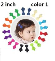 Wholesale Grosgrain Hair Bows Mini - 15% off! 100pcs  2 inch Grosgrain Ribbon mini Boutique Hair Bows Ribbon-Wrapped hair Clips For Baby Girls Toddlers Kids Barrettes 5 style