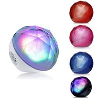 Wholesale magic crystal ball led remote - Hot Sale Wireless Bluetooth Speaker Mini LED Crystal Magic Ball Mini Portable Speaker Bluetooth with Remote Controller Free DHL