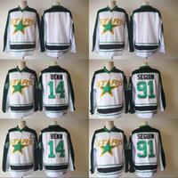 Wholesale Seasons Star - Mens 2017-2018 New Season Dallas Stars Jersey 14 Jamie Benn 91 Tyler Seguin Blank Stitched Hockey Jerseys Cheap White Wholesale