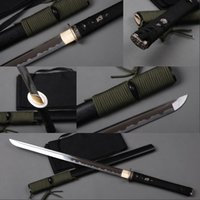 décorations de ninja achat en gros de-Entièrement fait à la main Ninja Samurai épée 1060 acier au carbone lame droite Full Tang couteau japonais décoration délicate