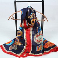 Wholesale Long Silk Scarf Styles - Fashion Style Print Real Silk Scarf long size 175*65cm