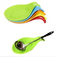 Wholesale Resistant Pliable Silicone Placemat Mat Spoon Holder Tableware Anti slip Mat Pad